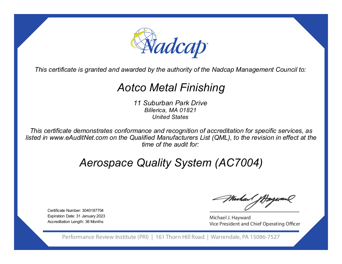 Accredited Nadcap