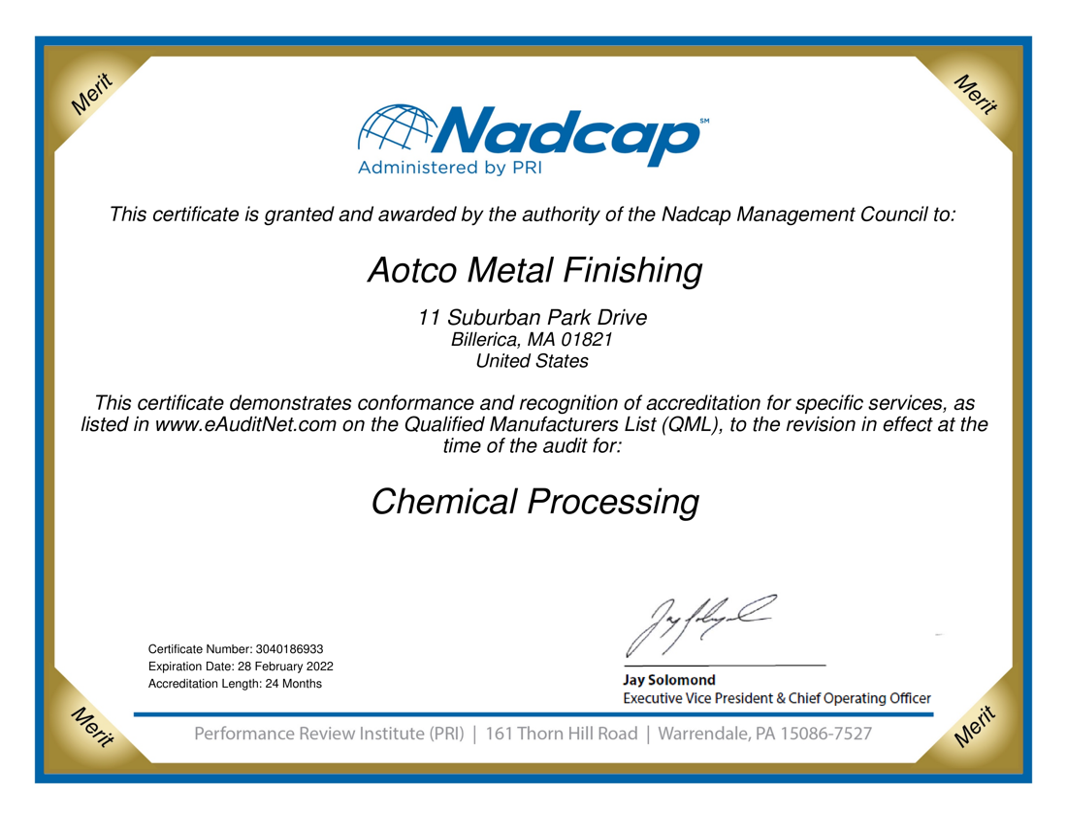 Accredited Nadcap